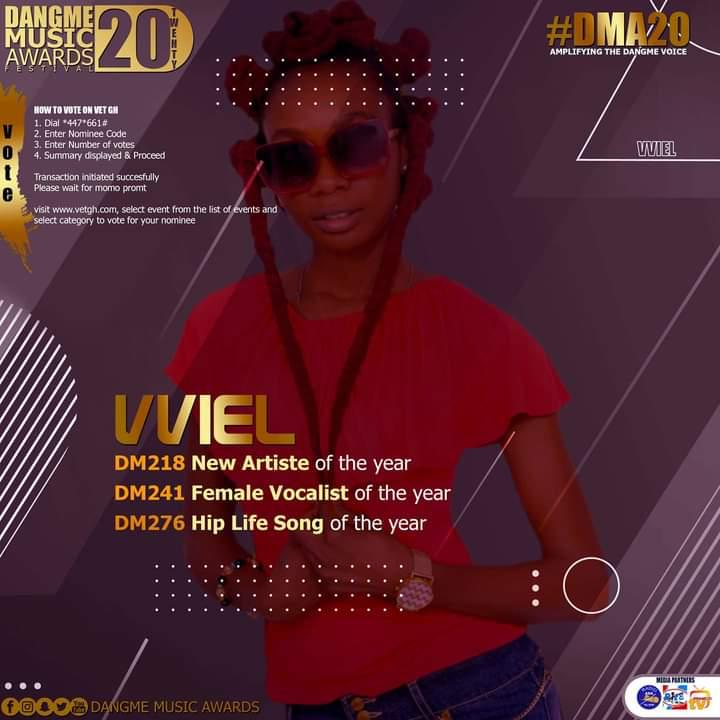 Vviel Bags 3 Nomination at the First Edition Of Dangbe Music Awards